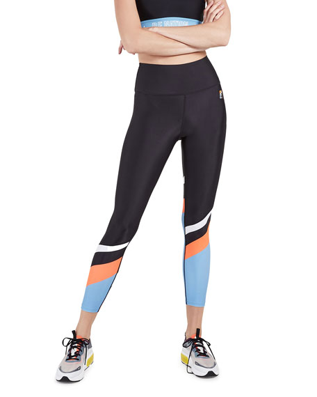 PE Nation Sky Shot Colorblock High-Rise Active Leggings