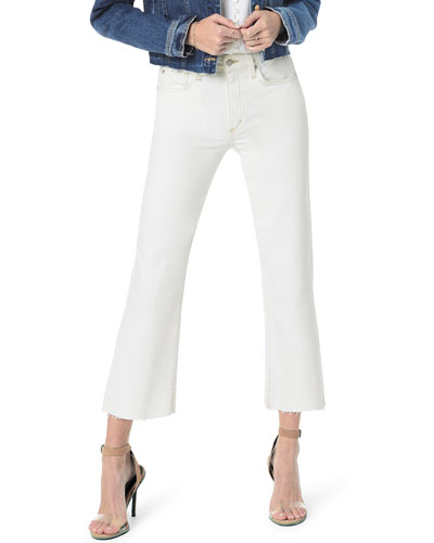 The Wyatt Cropped Flare-Leg Jeans w/ Cut Hem