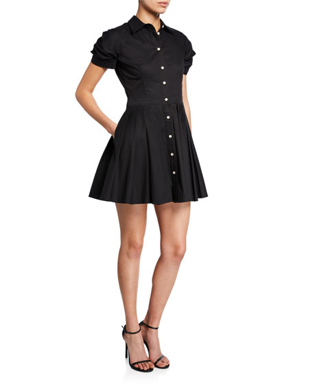 Alexis Dresses April Short-Sleeve Fit-&-Flare Shirtdress