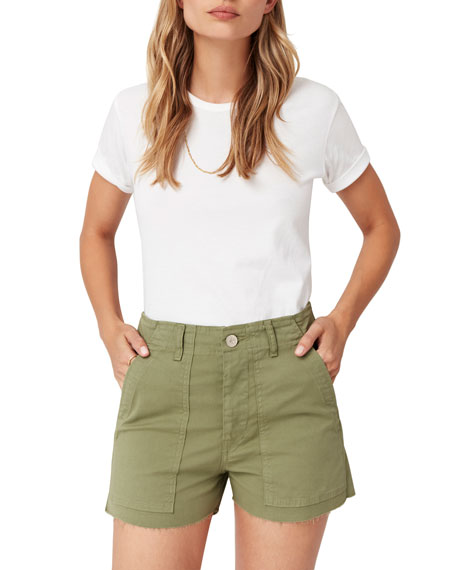 3x1 Shorts SIMONE RAW-EDGE SHORTS