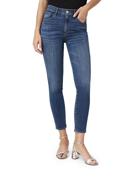 3x1 Jeans HIGH-RISE CROPPED SKINNY-LEG JEANS