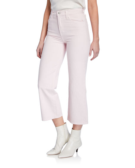 J Brand Jeans JOAN HIGH-RISE WIDE-LEG CROP JEANS