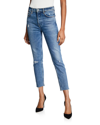 Karolina High-Rise Cropped Skinny Jeans - Sixpence