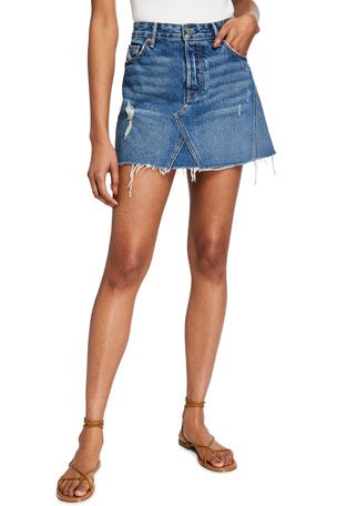 GRLFRND Eva Gusset Denim Skirt