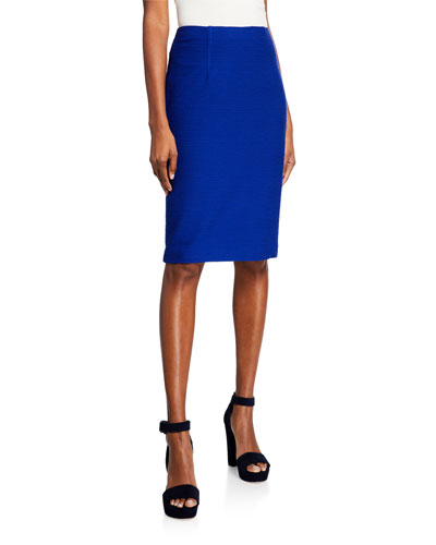 Textured Skinny Pencil Skirt
