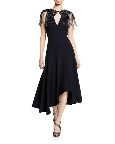 Lyla V-Neck Sleeveless Midi Dress