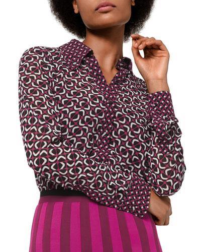 Mod Foulard Button-Front Shirt