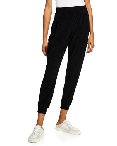 Daniella High-Rise Pull-On Jersey Jogger Pants