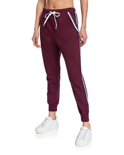 Alpha Cropped Side-Stripe Jogger Pants