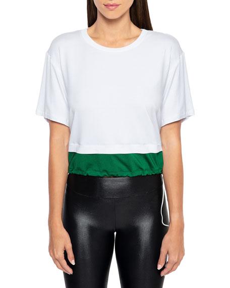 Koral T-shirts BORA BRISA TWOFER CROPPED DRAWSTRING T-SHIRT