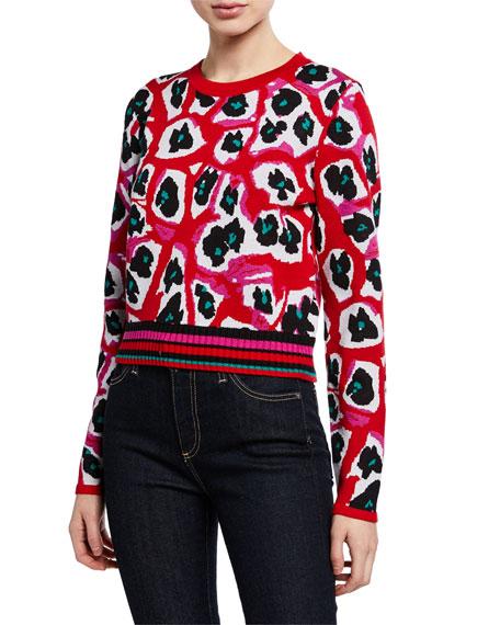 Diane von Furstenberg Harrison Crewneck Wool Pullover Sweater