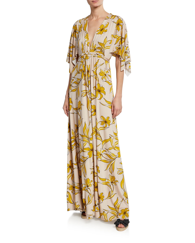 2b0685c45f238 Rachel Pally Lily-Print Caftan Maxi Dress