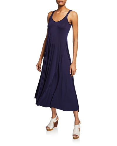 Plus Size Nora Scoop-Neck Maxi Jersey Tank Dress
