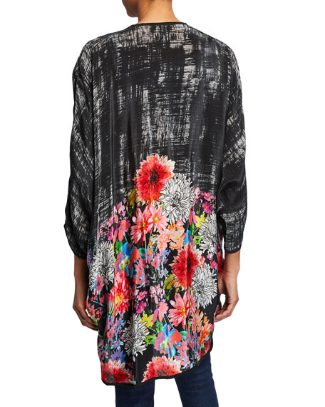 2e69ea6f3d2 Image 2 of 2  Plus Size Shara Floral Printed Open Jacket