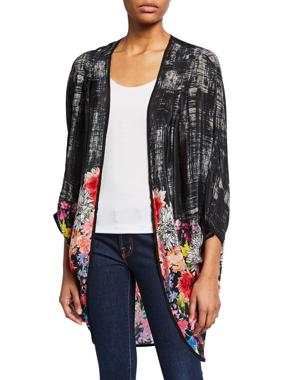 9c18f697e71 Tolani Plus Size Shara Floral Printed Open Jacket