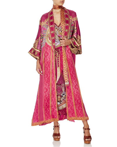 Lounge Hour Long Printed Robe