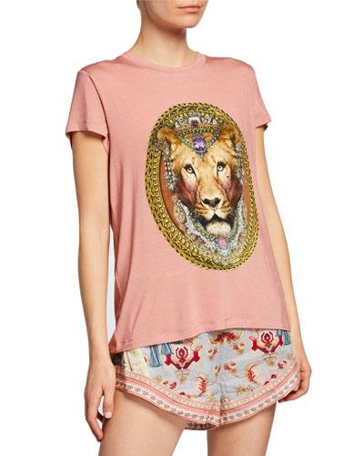 Slim Fit Round-Neck Graphic T-Shirt