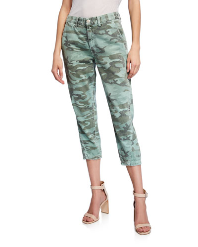 Slouchy Camo Ankle Pants