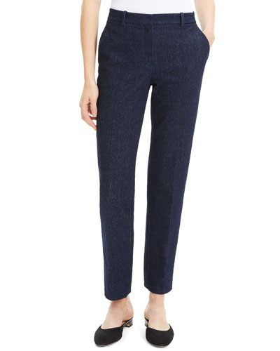 Tailored Straight-Leg Cotton Trousers