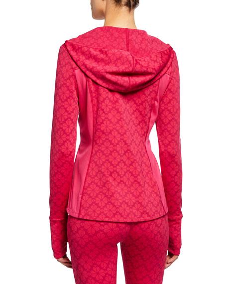 floral spade half-zip hooded active jacket