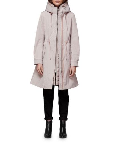 Kait 2-in-1 Parka Coat w/ Puffer Underlay