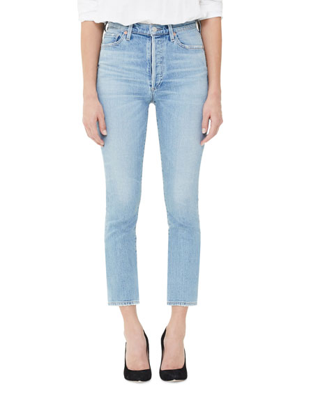 Citizens Of Humanity OLIVIA HIGH-RISE SLIM-LEG CROP JEANS