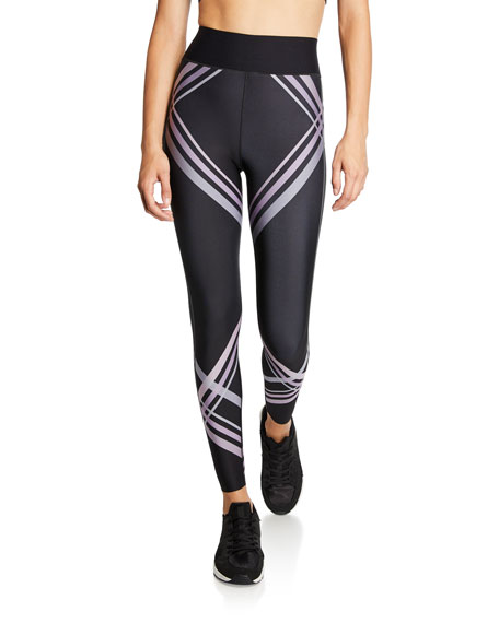 Ultracor ULTRA HIGH CONTRAIL CONTRAST STRIPE LEGGINGS