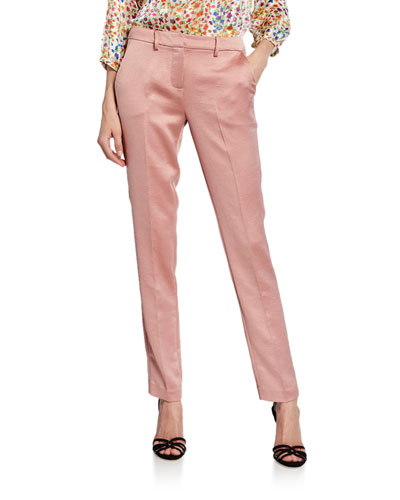 dana straight-leg satin trousers