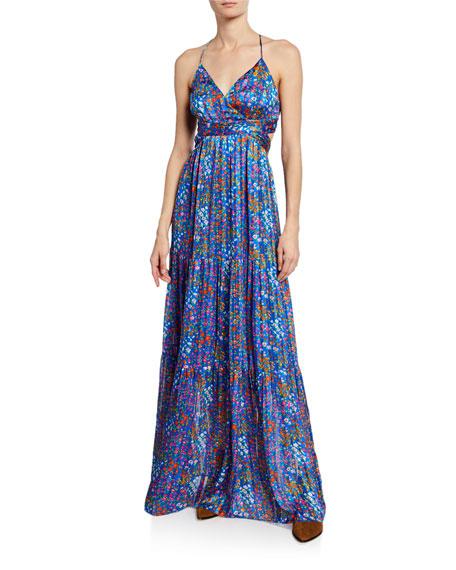 Ba&sh Dresses ROSY FLORAL OPEN-BACK MAXI DRESS