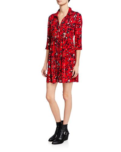 Erine Floral-Print Mini Dress