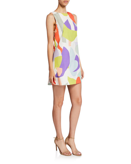 Alice + Olivia Clyde Geo-Print Shift Dress