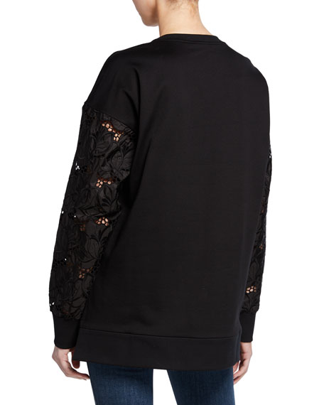 Moncler Sheer Long-Sleeve Pullover Sweater