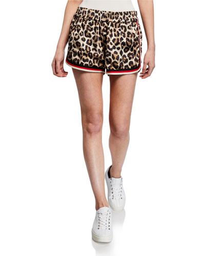 Dolphin Leopard-Print Shorts