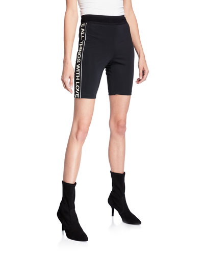 Sporty Stripe Bike Shorts