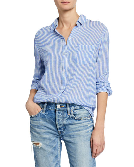 Rails T-shirts CHARLI STRIPED BUTTON-DOWN SHIRT