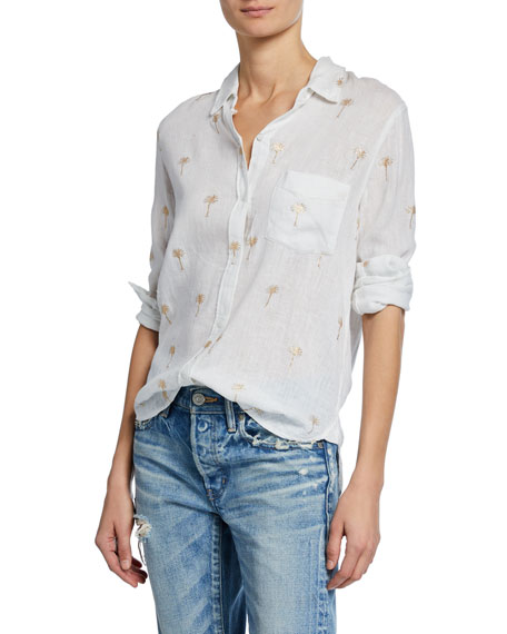 Rails T-shirts Charli Mini Palm-Tree Button-Down Shirt