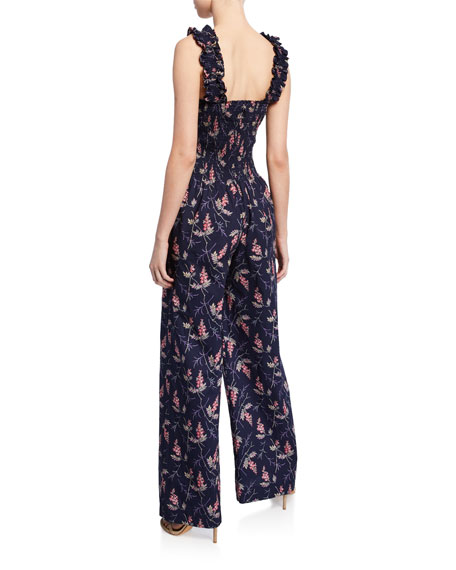 Ivie Floral Sleeveless Jumpsuit