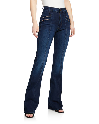The Slant Pocket Drama Flare-Leg Jeans