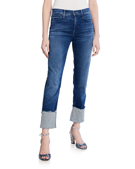 Mother Jeans THE PONY BOY ANKLE FRAY CUFFED JEANS