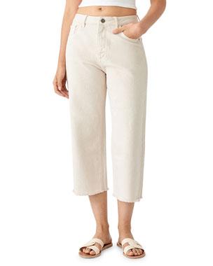 f09a81b312ca0 DL1961 Premium Denim Hepburn Crop High-Rise Wide-Leg Jeans