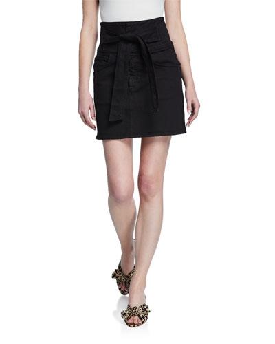 Callie High-Rise Tie-Front Short Skirt