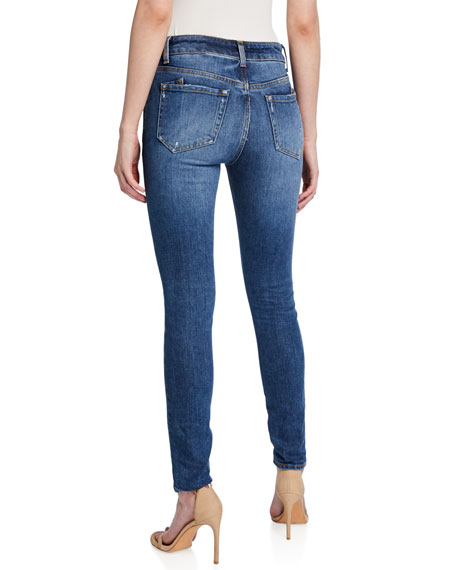PRPS Mid-Rise Stretch Skinny Jeans w/ Patch Repair