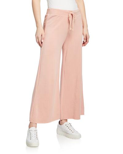 Adalia Wide-Leg Fleece Lounge Pants
