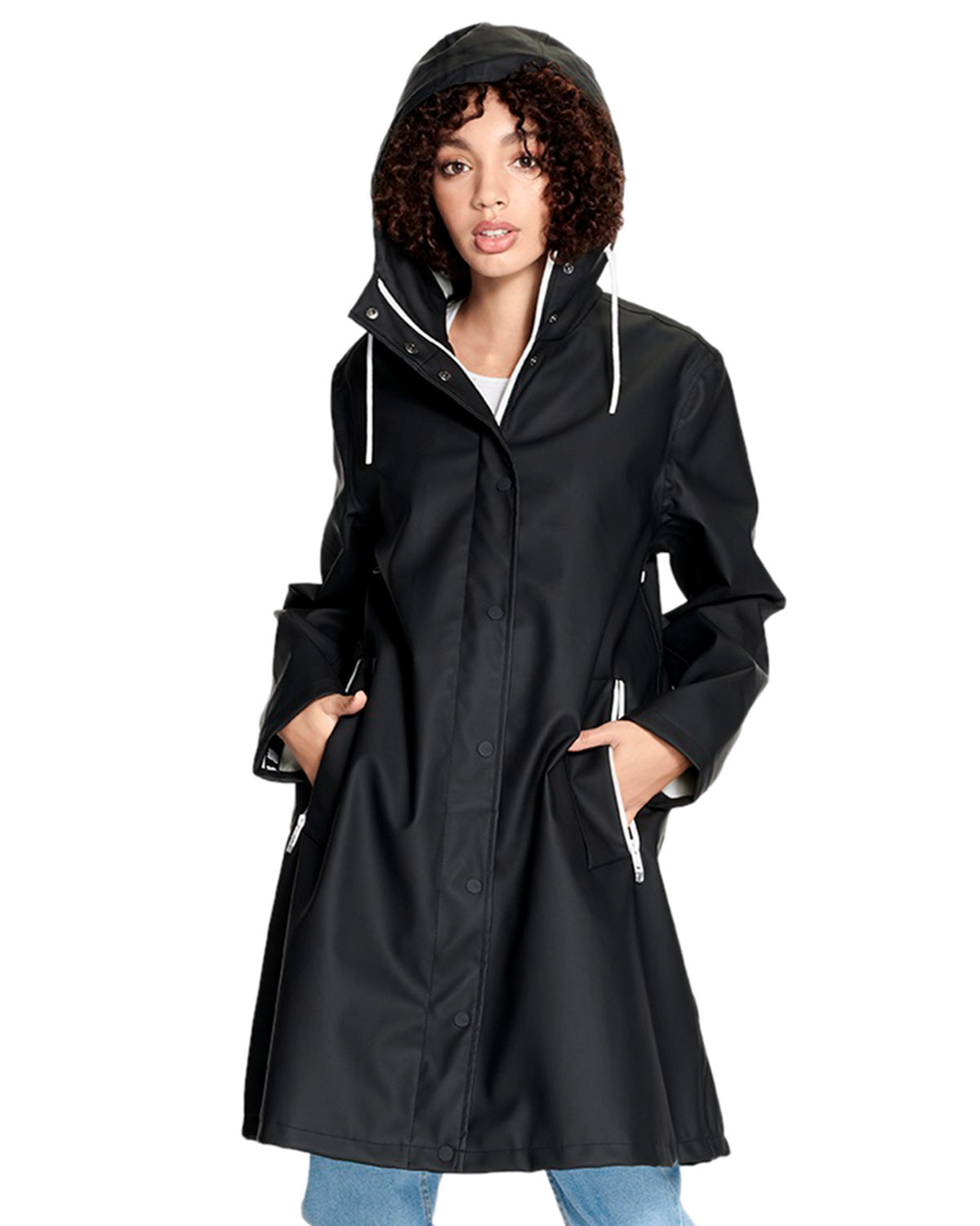 UGG Australia Zooey Black Oversized Raincoat