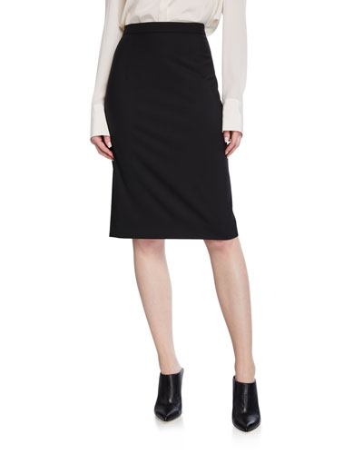 Hemdall Traceable Wool Straight Skirt