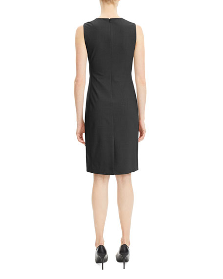 Theory Eano Sleeveless Good Wool Suiting Dress