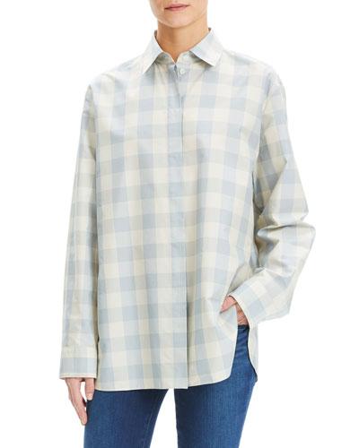 Fuji Check Menswear Oversized Shirt
