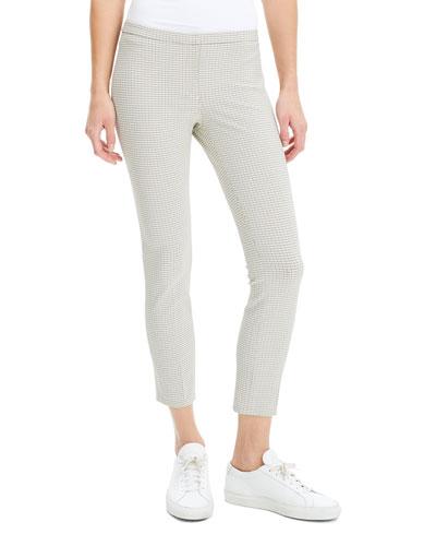 Plaid Cropped Skinny Pants