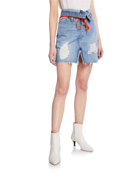 Hudson Skirts SLOANE HIGH-RISE DENIM SKIRT