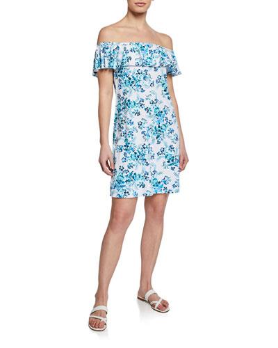 Floral Isles Off-Shoulder Coverup Dress